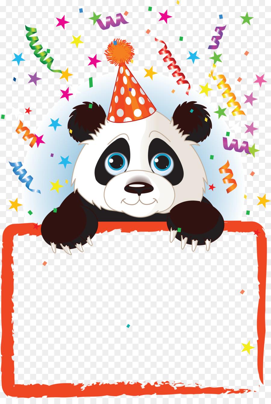 Giant panda Birthday Bear Clip art - birthday invitation png ...