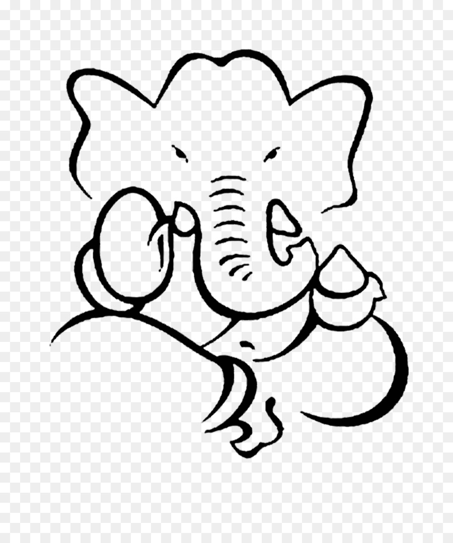 Ganesha drawing art monochrome photography png