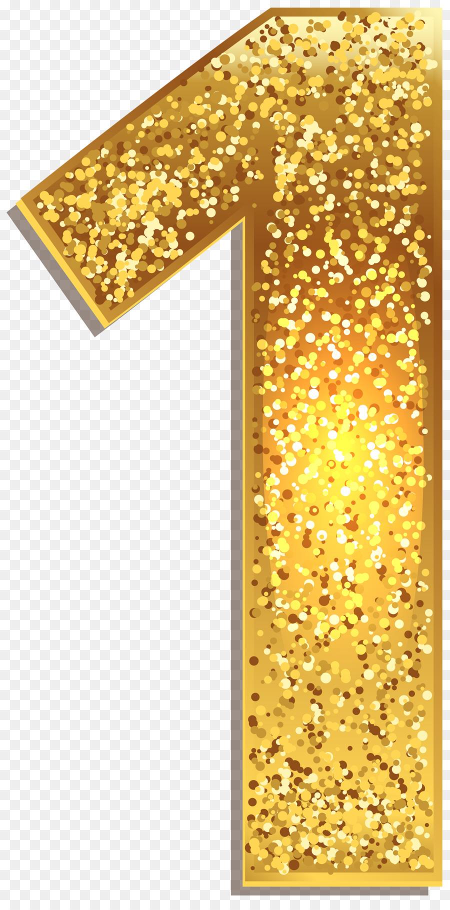 number gold clip art - number one png download - 2494 5000