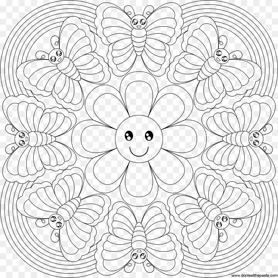 Kitap Mandala çocuk Boyama Rangoli çocuk Png Indir 16001600