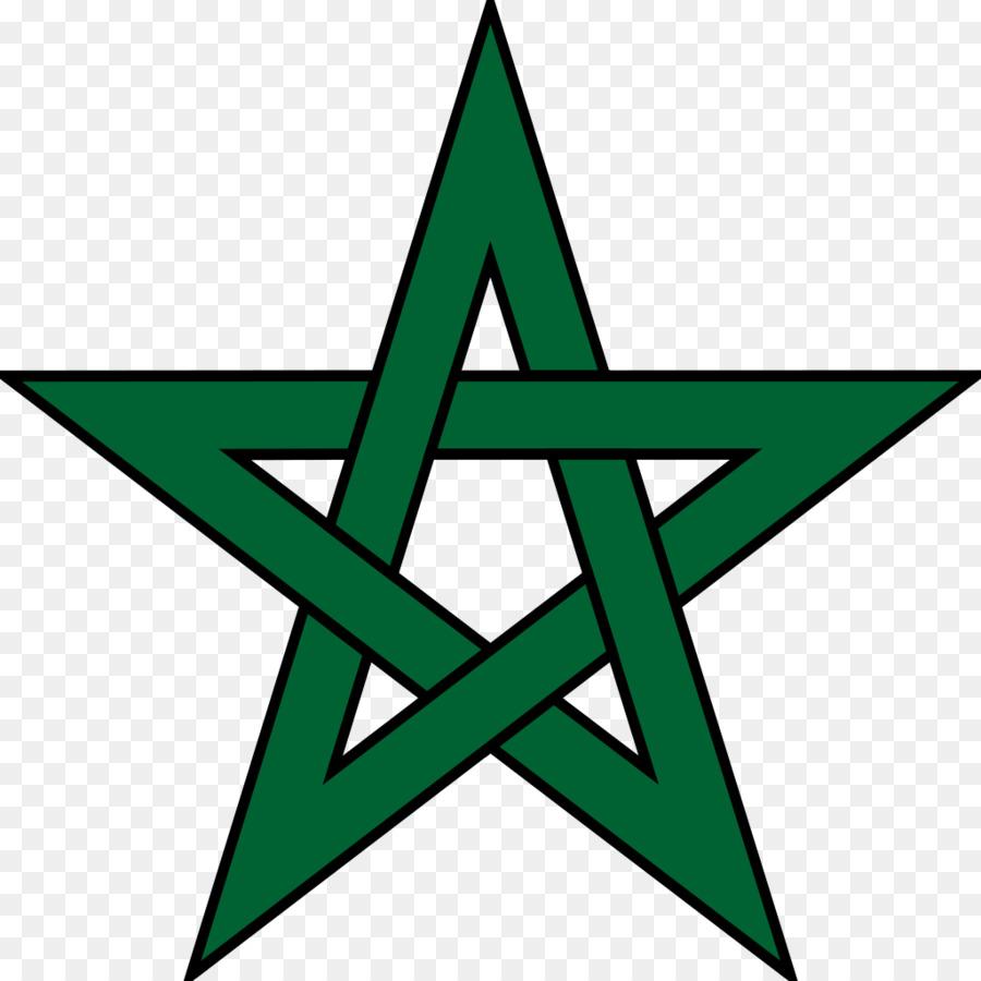 Bandera de Marruecos cocina Marroquí estrella de Cinco puntas ...