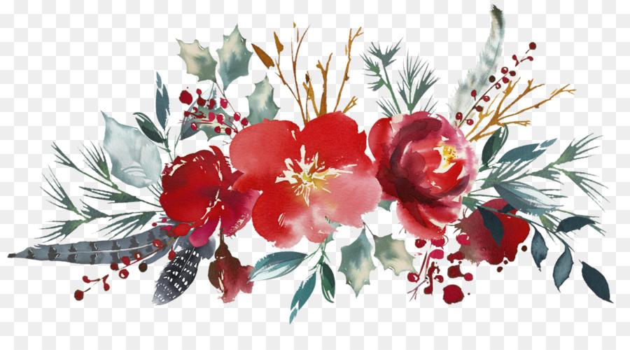 Cut flowers Floral design Mug Flower bouquet - watercolour floral ...