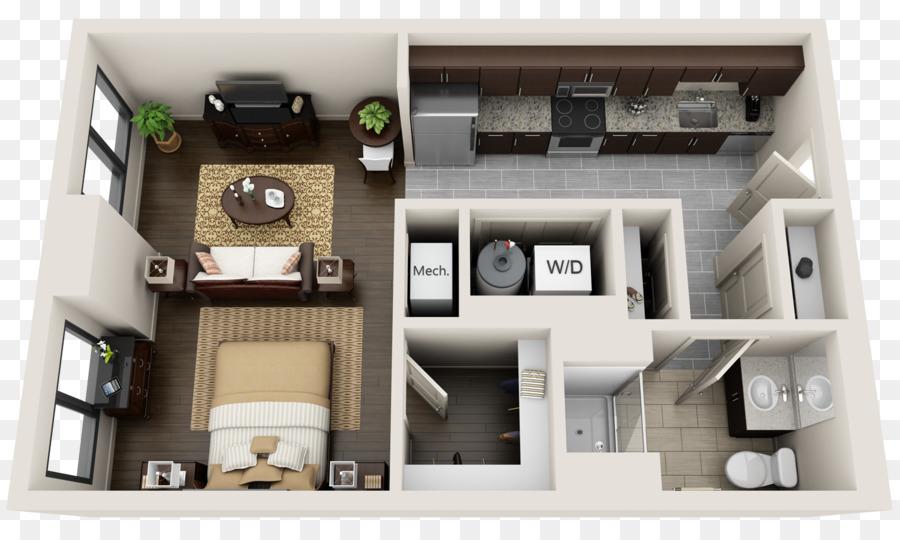 3D-Grundriss Wohnung Haus planen - Badezimmer Interieur png ...