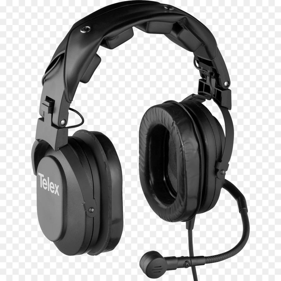 Noise-canceling microphone Headphones Active noise control Telex ...