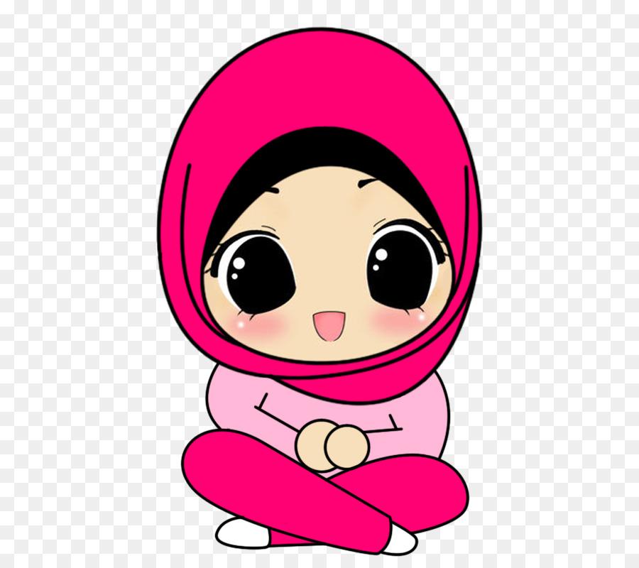 cartoon Muslim hijab