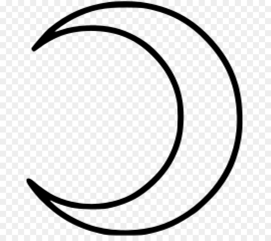 Moon Drawing Lunar Phase Crescent Symbol Drawing Png Download