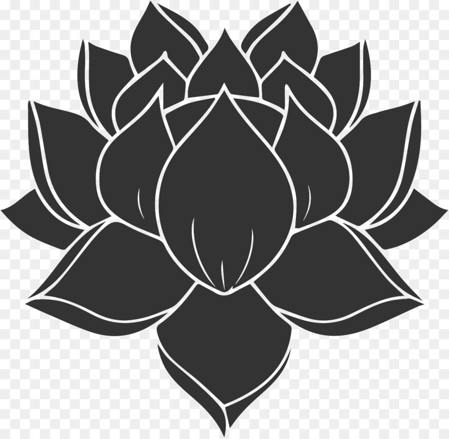Silhouette Nelumbo Nucifera Lotus Flower Png Download 13861353
