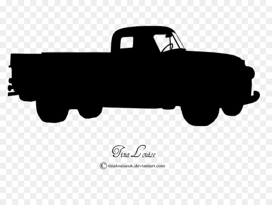 Pickup truck Car Thames Trader Silhouette - old car png download ...