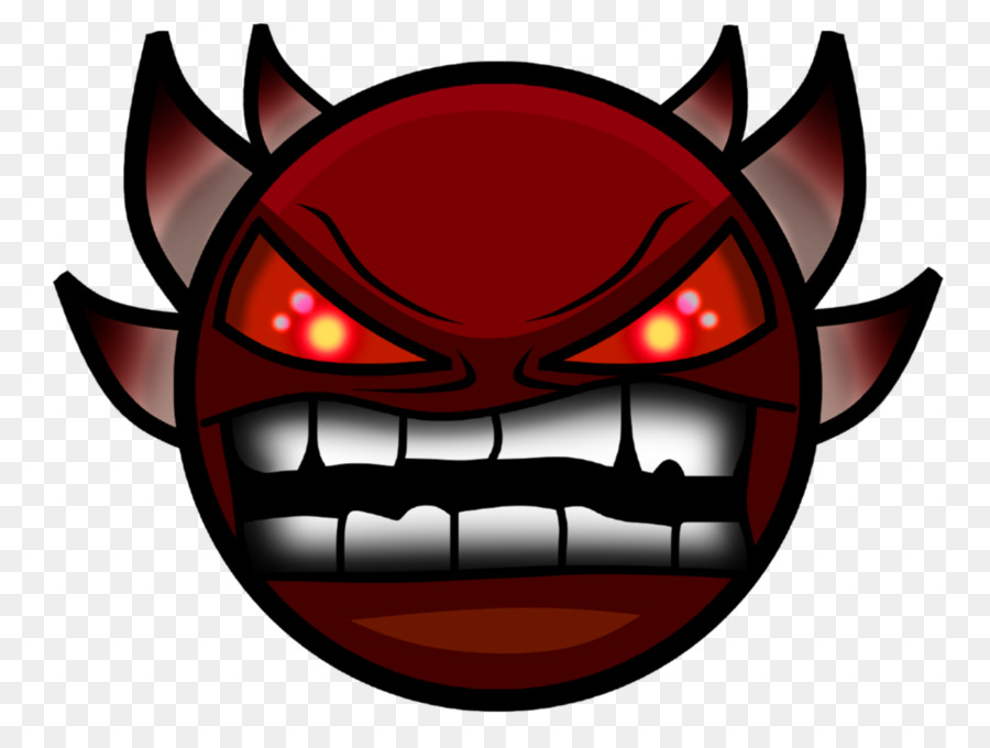 Geometry Dash Clash Royale Demon Game Geomentry Png Download