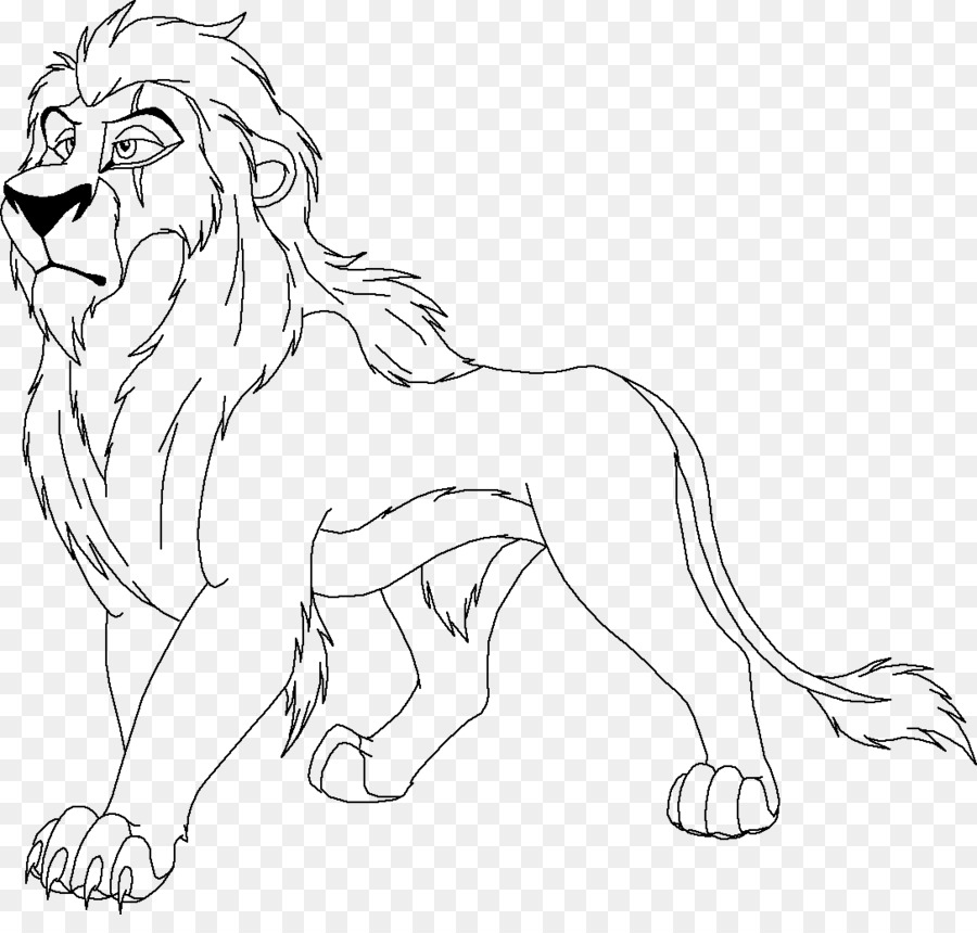 Scar Simba Mufasa Lion Coloring book - lion king png download - 1086 ...