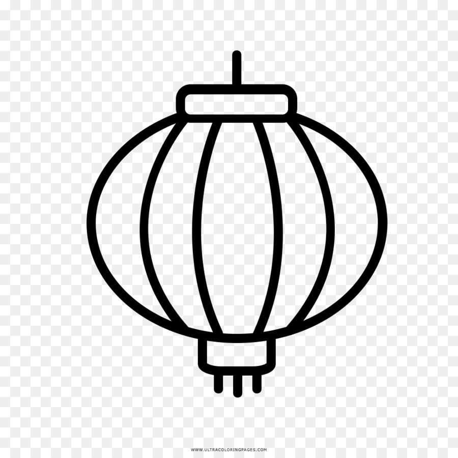 Linterna de papel de China para Colorear libro - linterna png dibujo ...
