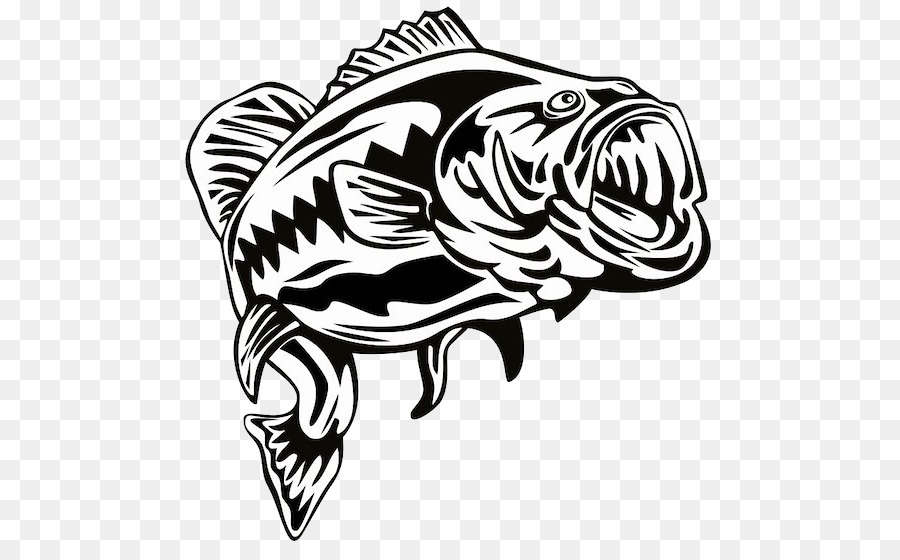 Largemouth Bass Stencil Bass Fishing Clip Art Bass Png Download