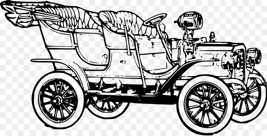 1920s Ford Model T Coloring book Car - old car png download - 2400 ...