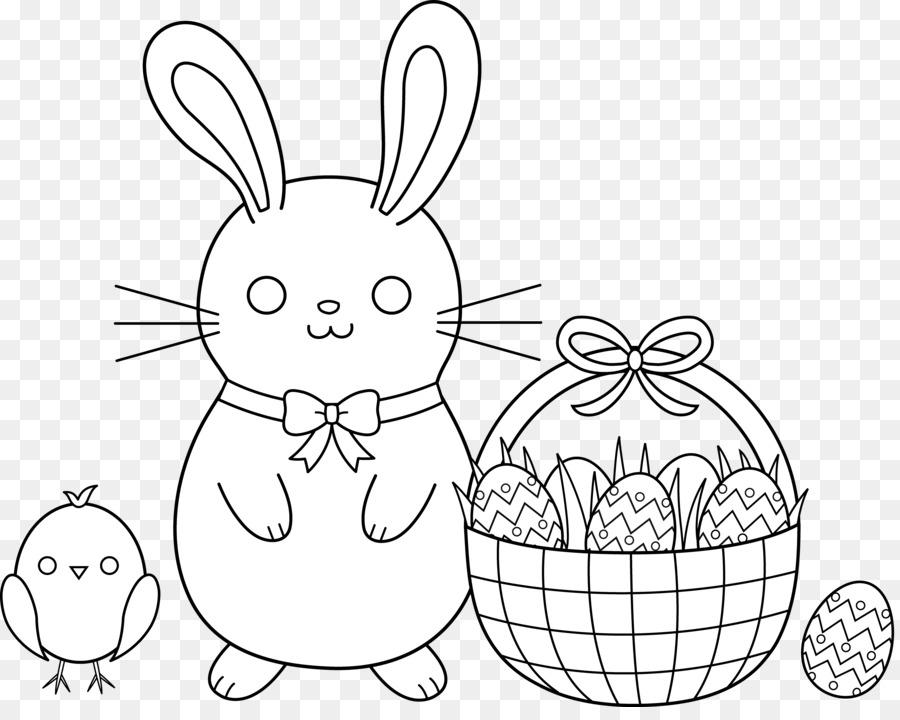 Conejito de pascua canasta de Pascua para Colorear libro del huevo ...