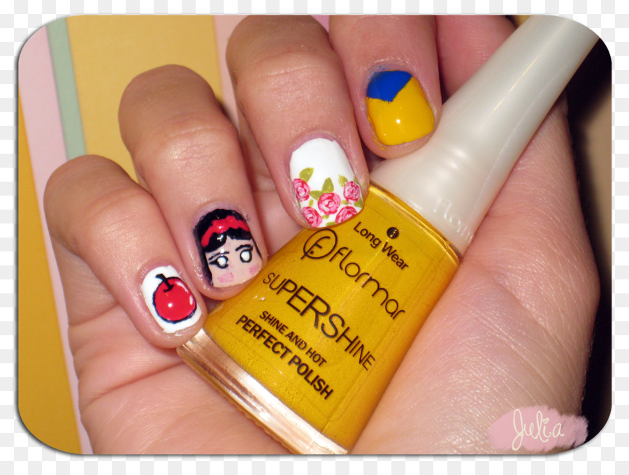 Nail Art Manicure Nail Polish Snow White Pedicure Png Download