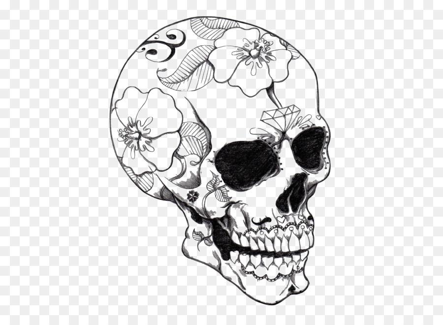 Calavera para Colorear libro Cráneo Páginas para Colorear Para ...