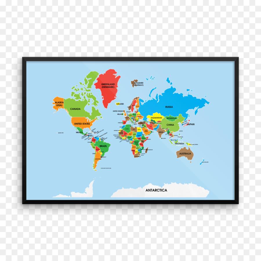 World Map Spanish English World Map Png Download 1000 1000