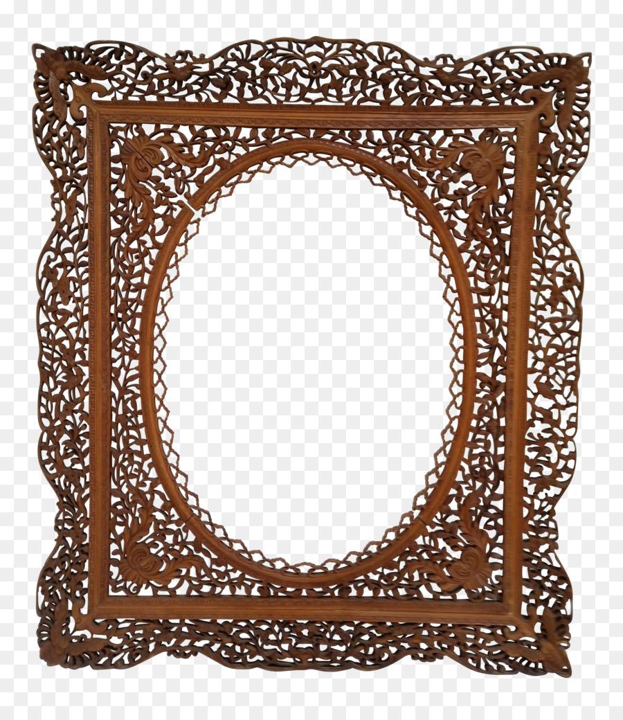 Picture Frames Wood carving Door Decorative arts - vintage frame png ...