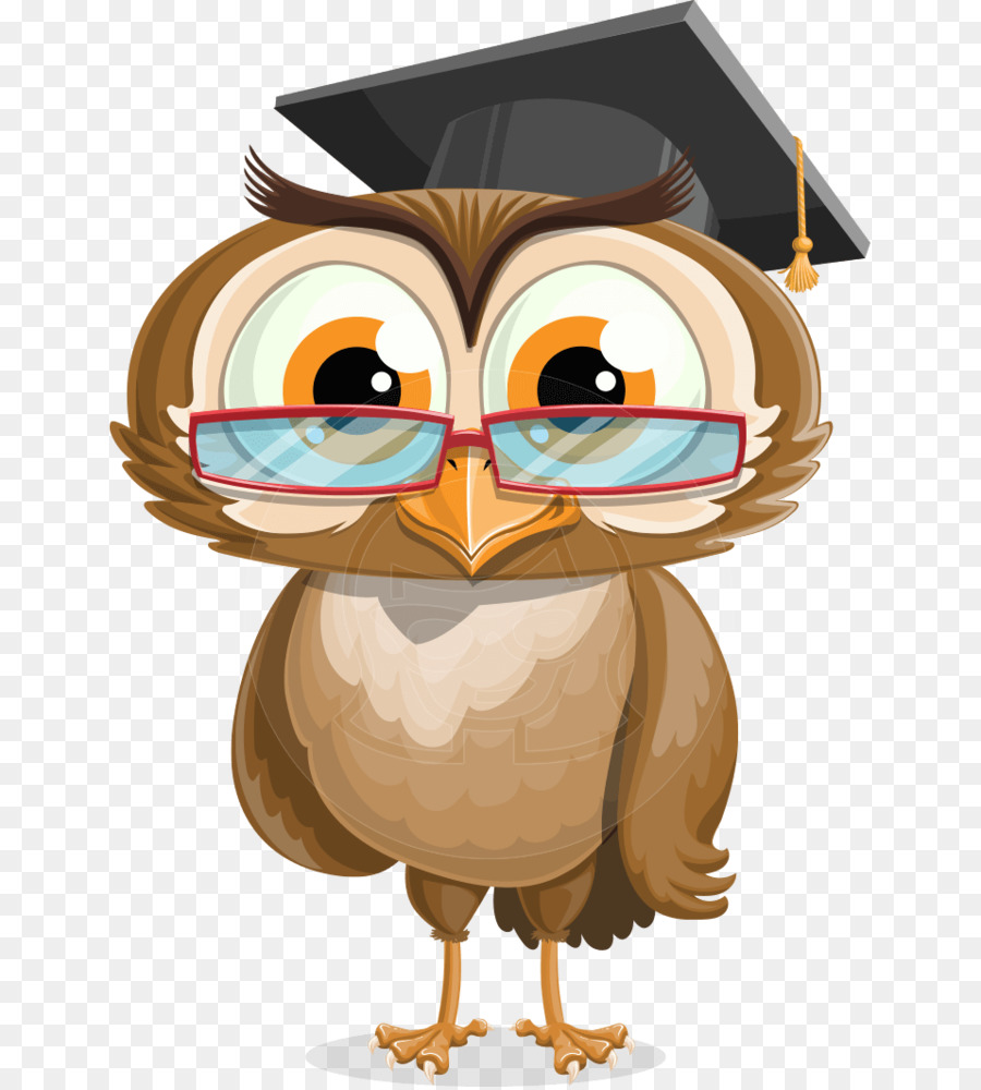 Owl Graduation ceremony Bird Cartoon - graduation gown png download ...