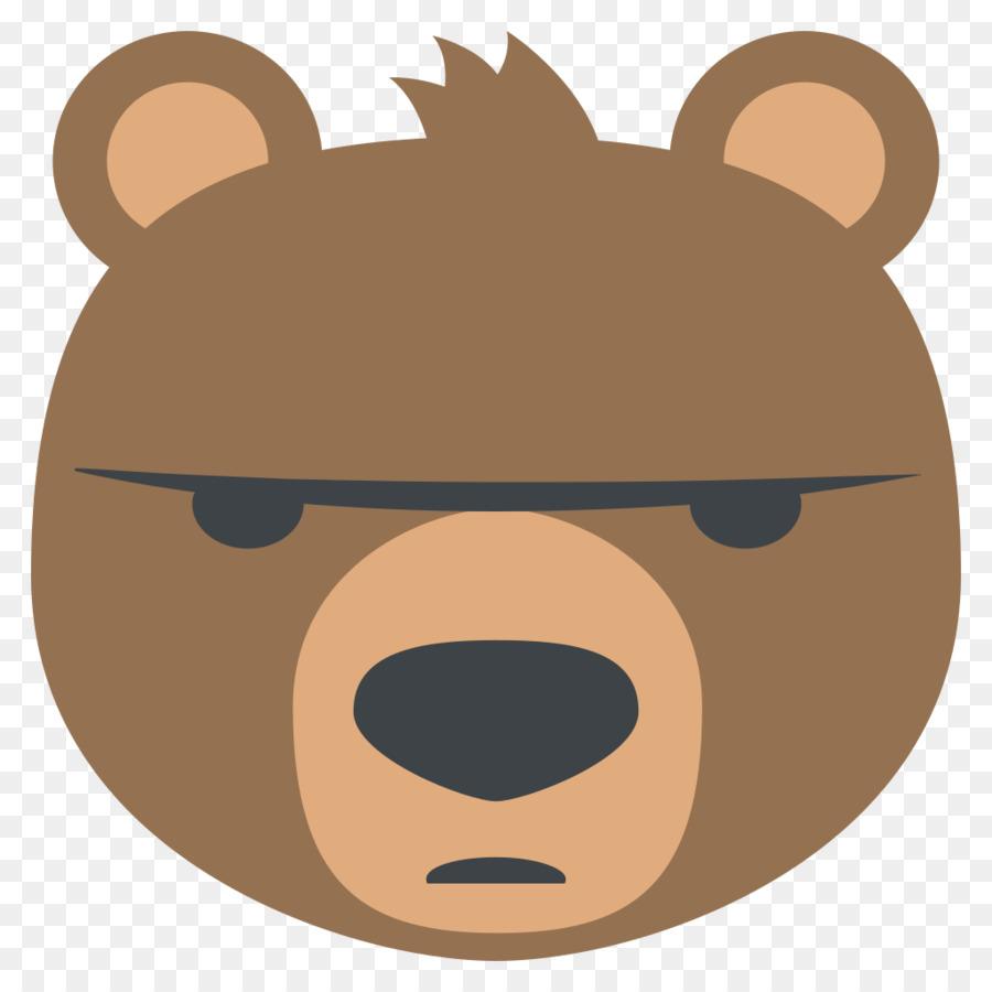 american black bear emoji emoticon sticker angry emoji png