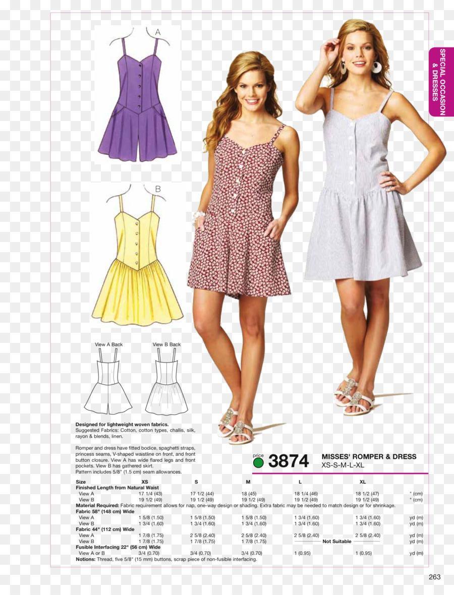 Coser el Vestido de Costura de un pelele Patrón - aguja de coser ...