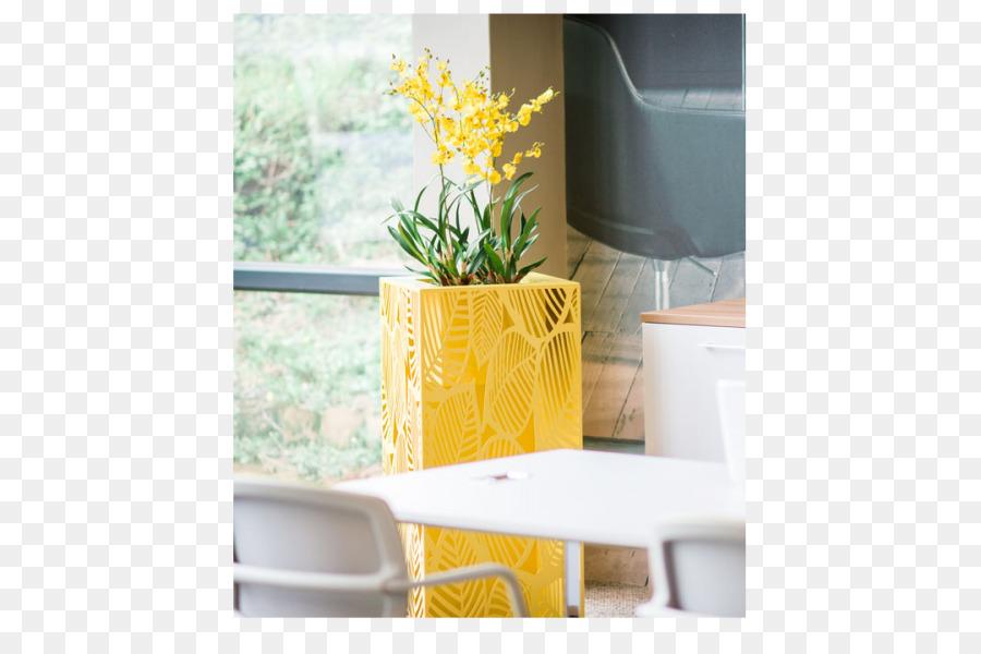 Pot de fleurs de meubles de table de bureau de zone de monstera