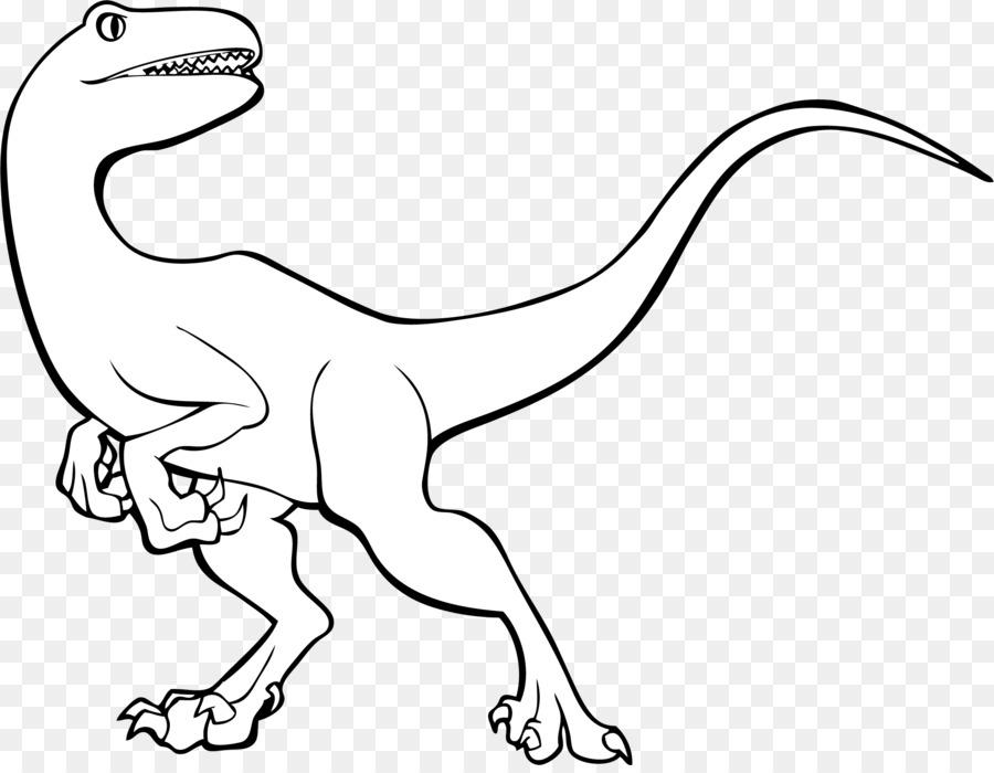 Tyrannosaurus Velociraptor de la Línea de arte Dinosaurio ...