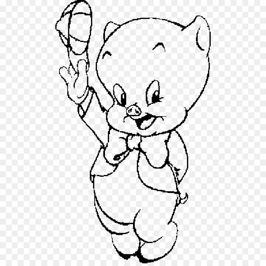 Porky Pig libro para Colorear dibujos animados de Looney Tunes ...