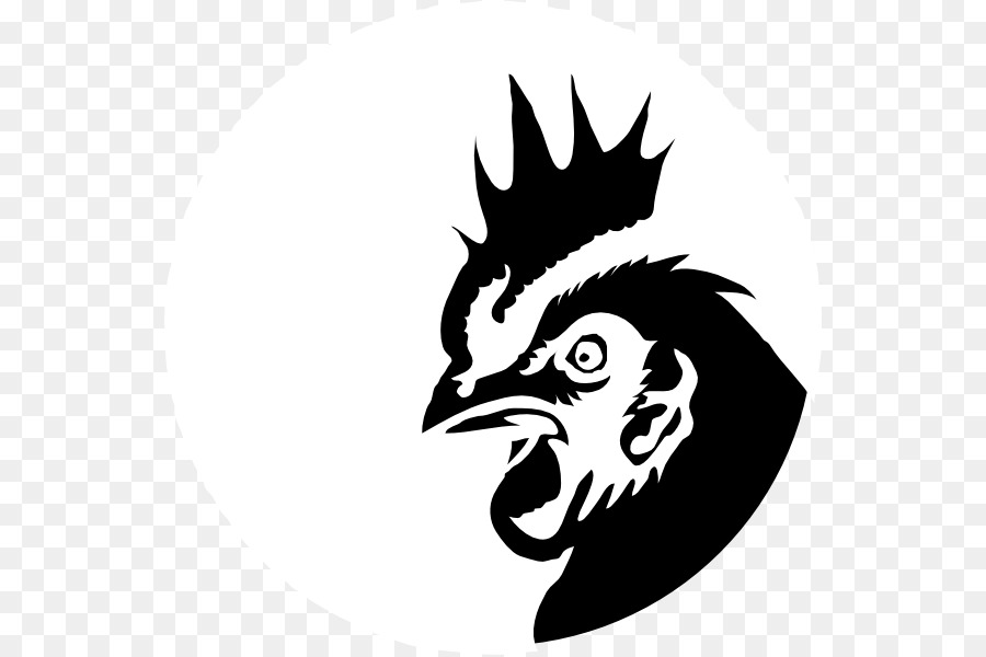 Chicken Silhouette Drawing Clip art - rooster png download ...