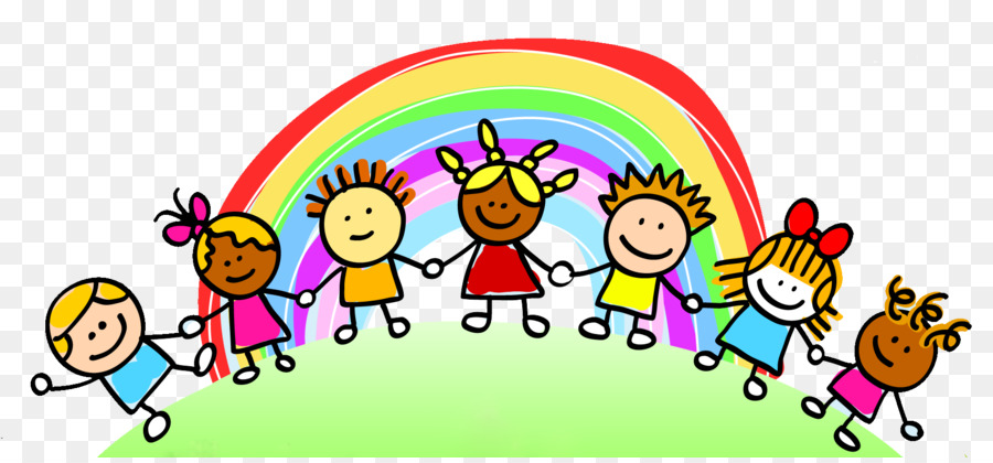 child care rainbow pre school clip art children playing png rh kisspng com
