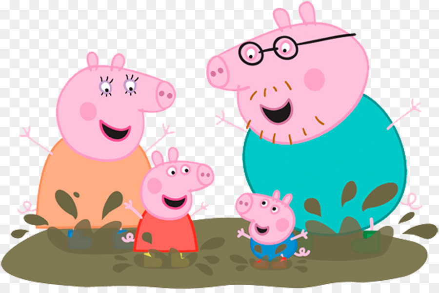Pig Wall decal Muddy Puddles Sticker Mural peppa png download