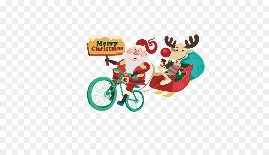 Babbo Natale In Bicicletta.Di Natale Babbo Natale In Bicicletta Clip Art Santa Slitta