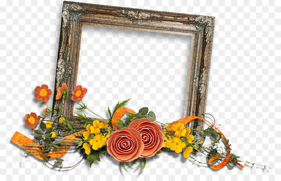 Picture Frames Cut Flowers Wreath Green Frame Png Download 846