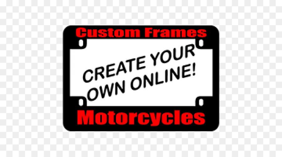 Placas del vehículo de encargo de la motocicleta de los Marcos de la ...