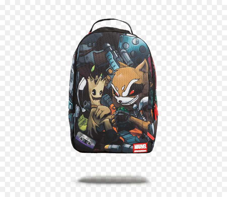 8ec1b18125 Backpack Bag Rocket Raccoon Groot Clothing - guardians of the galaxy png  download - 600 766 - Free Transparent Backpack png Download.