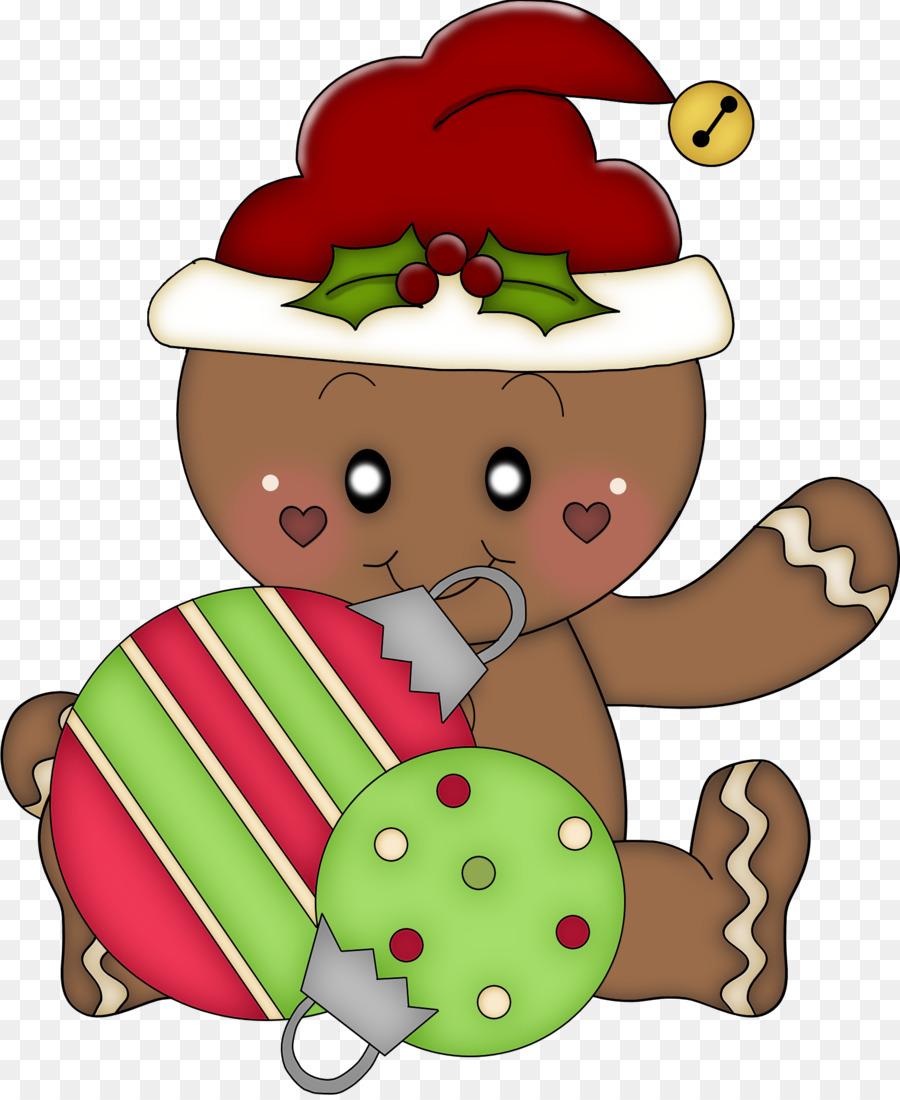 Natal Gingerbread Man Clip Art Manusia Kue Jahe Unduh Ornamen