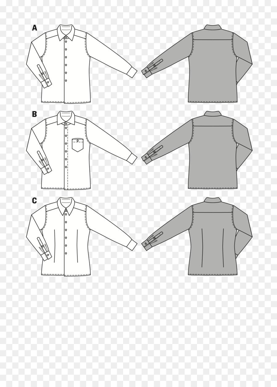 La Ropa Del Cuello De La Camisa Albornoz Patrón - aguja de coser png ...