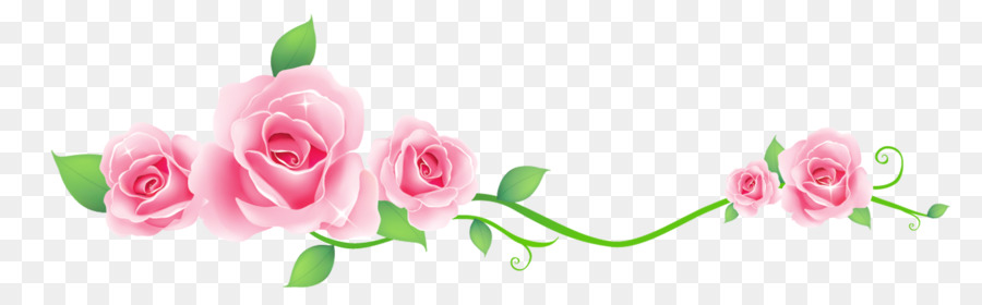 Photography Drawing Floral Design Pink Flower Border Png Download 2486 756 Free