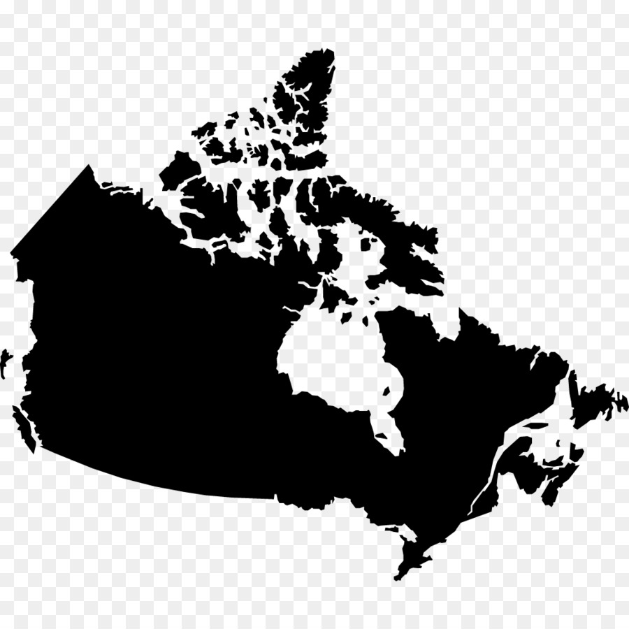 Canada Vector Map Blank Map The Seven Wonders Png Download 1024