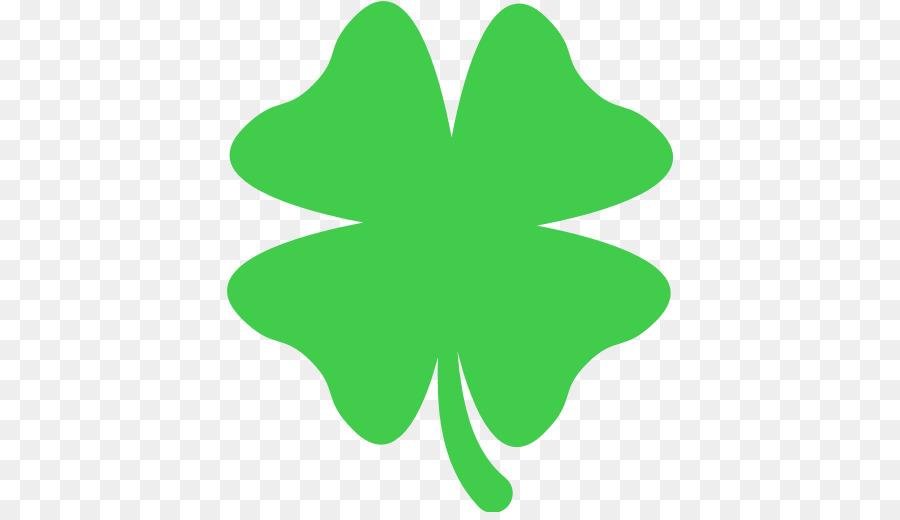 Emoji Four Leaf Clover Symbol Text Messaging Clover Png Download