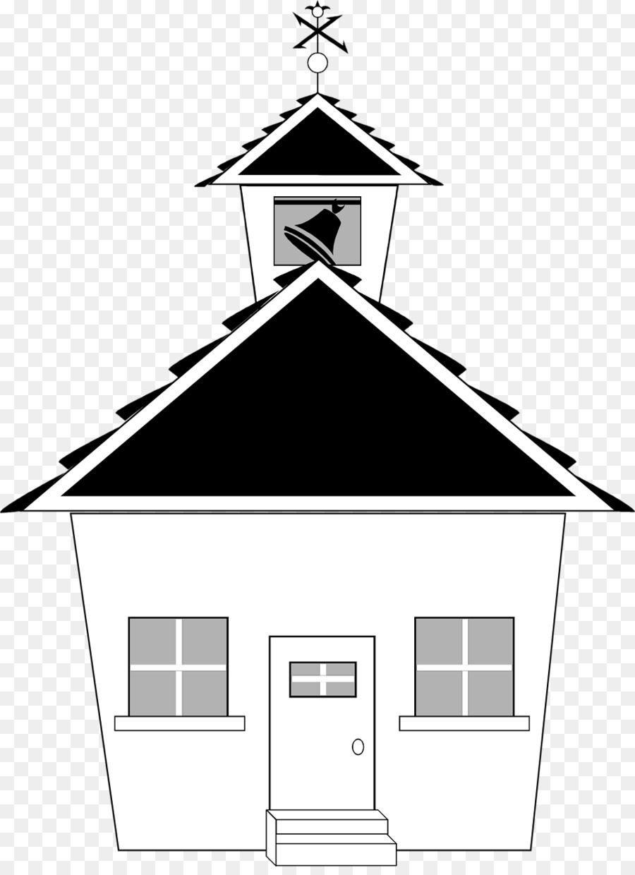 School Black And White Clip Art School Buildings 9581307
