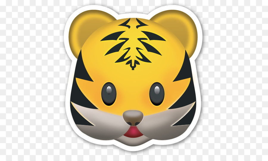 Emoji Tiger Text messaging Emoticon Sticker - lion face ...