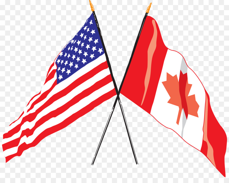 flag of the united states flag of canada canadian americans
