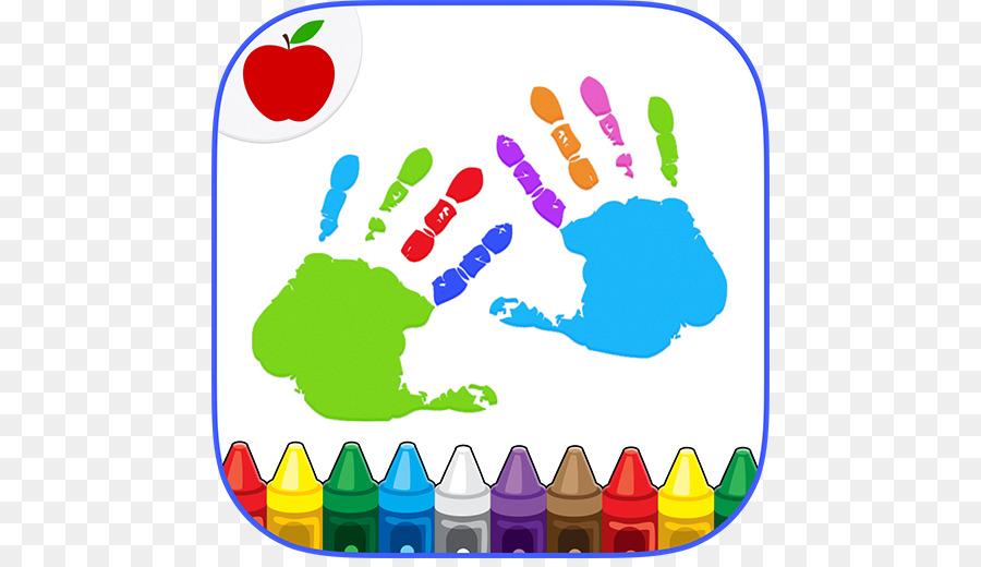 Los niños Pintar con los Dedos para Colorear Niño de Arte libro para ...