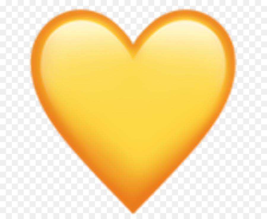 Corazón Amarillo Emoji Encanta El Color