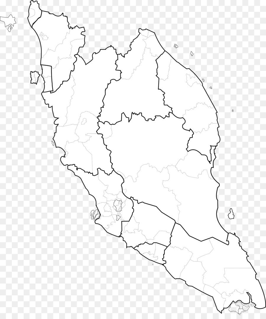 Peninsular Malaysia: Peninsular Malaysia Federal Territories Blank Map Vector