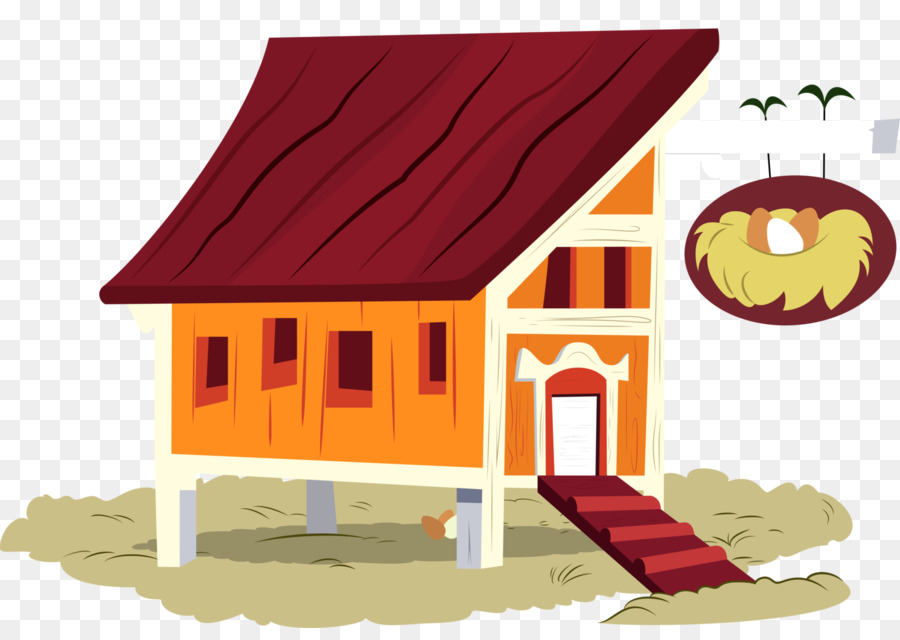 Chicken Coop Building House Clip Art