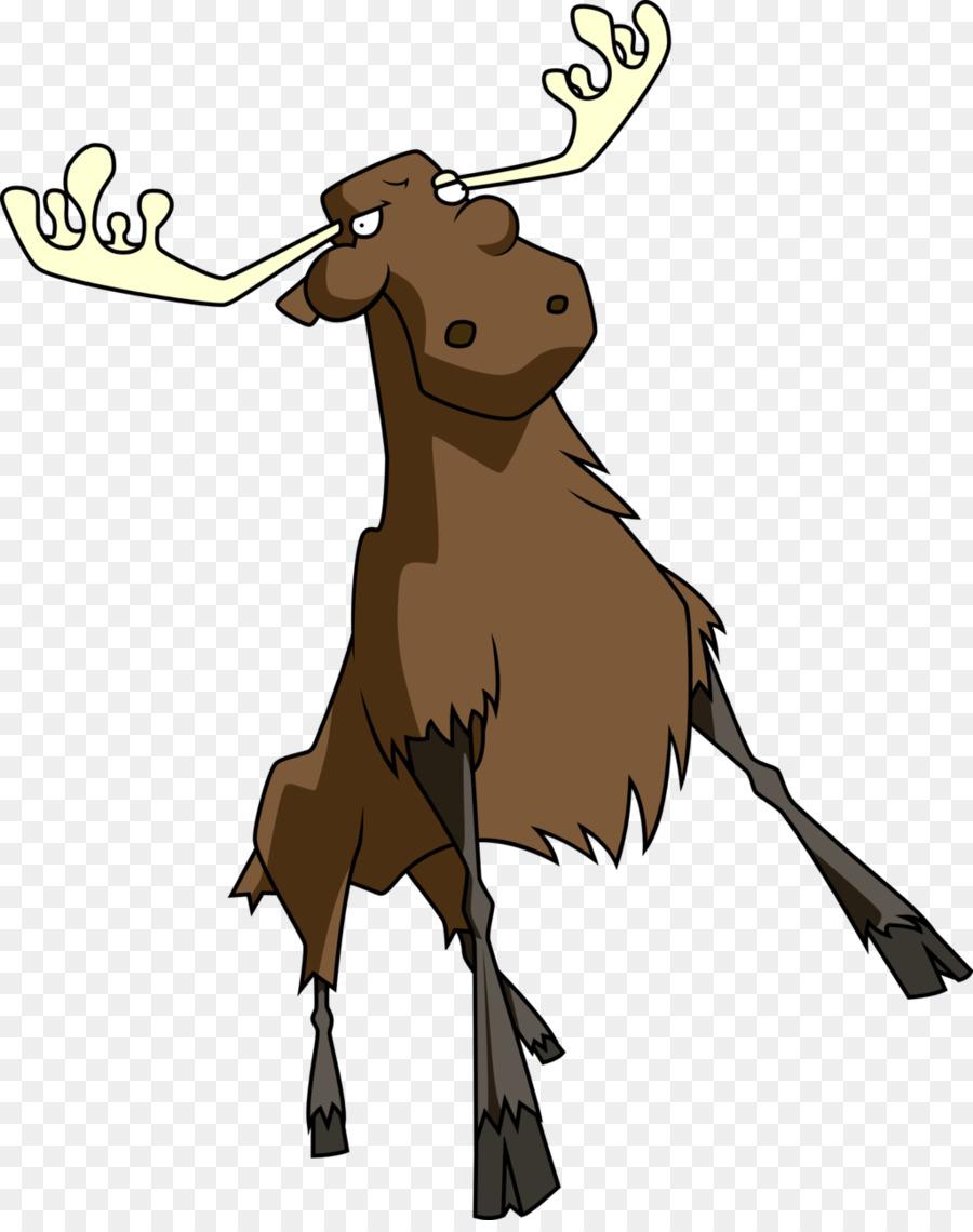 Moose Deer Pet Gray wolf Invader Zim - MOOSE png download - 1024 ...