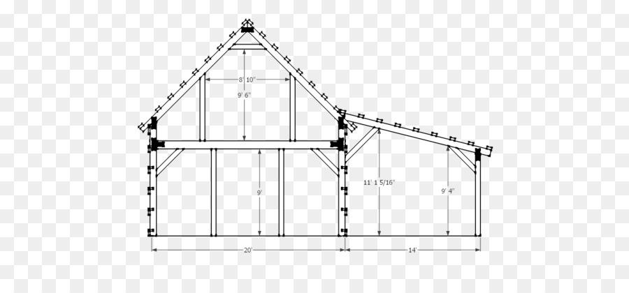 Casa granero plan de Poste de la construcción de encuadre - granero ...