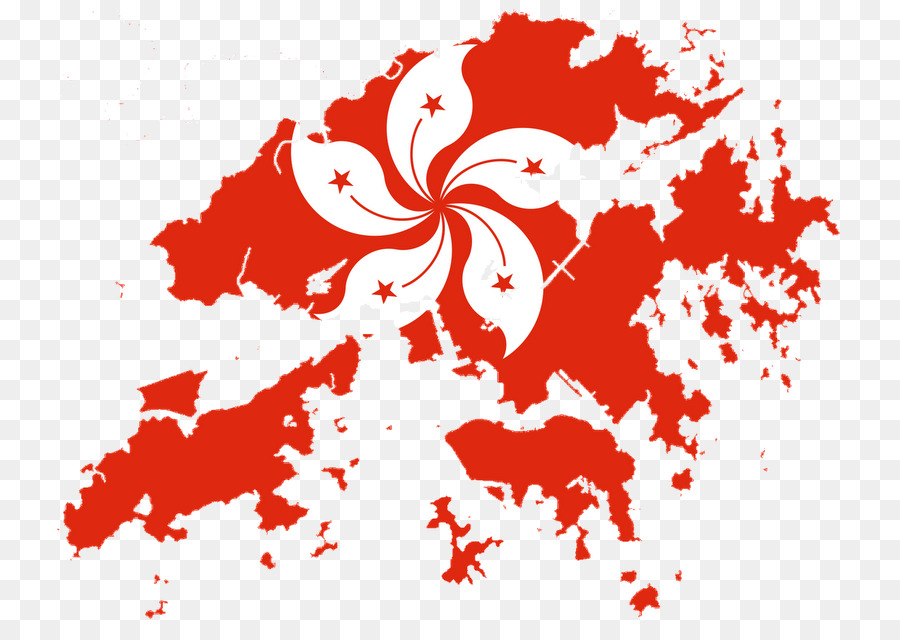 Flag Of Hong Kong Blank Map